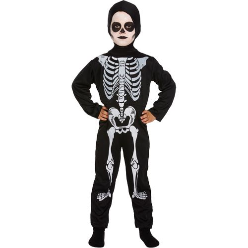 Childs Skeleton Halloween Fancy Dress Costume Age 7-9 Years