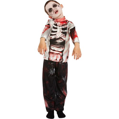 Zombie Boy Age 7 - 9 Years Fancy Dress Costume Halloween