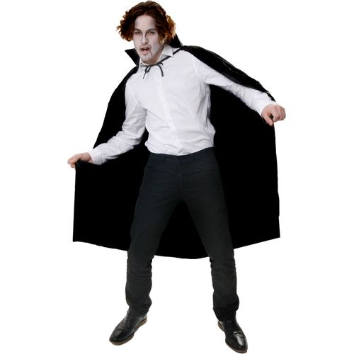 Long Black Horror Halloween Cape Fancy Dress Vampire Cloak
