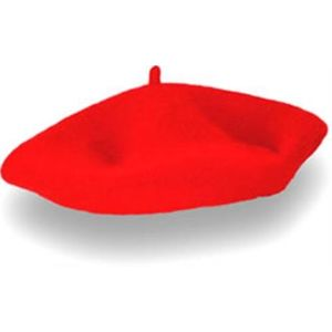 Felt French Beret (Red)