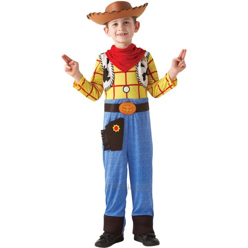 Deluxe Woody Fancy Dress Costume Outfit Toy Story 7 - 8 Years Kids Childs