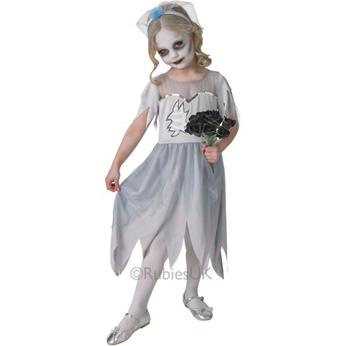 Grey Deadly Dearly Departed Corpse Bride Age 7 - 8 Years Halloween Fancy Dress