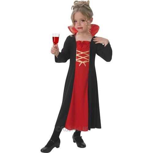 Vampiress Costume Ladies Fancy Dress Vampire Outfit Girls Halloween