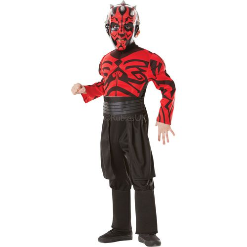 Darth Maul Costume Outfit Fancy Dress Kids Outfit Star Wars Age 3 - 4