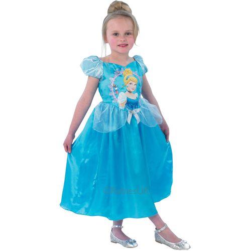 Cinderella Disney Storytime Fancy Dress Girls Princess Dress Large 7 - 8 Years