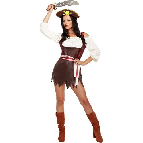 Sexy Piratess Fancy Dress Costume Size 12-14