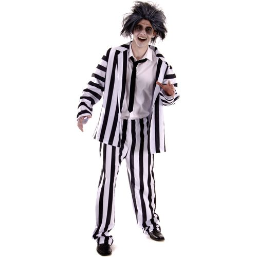 Beetle Juice Style Fancy Dress Costume One Size Fits Most (M-XL)