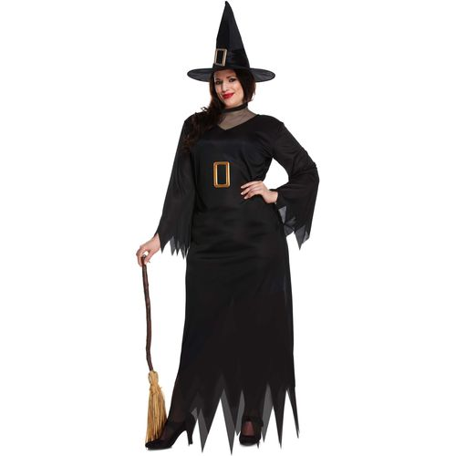 Black Witch Halloween Fancy Dress Costume Size UK 14-16