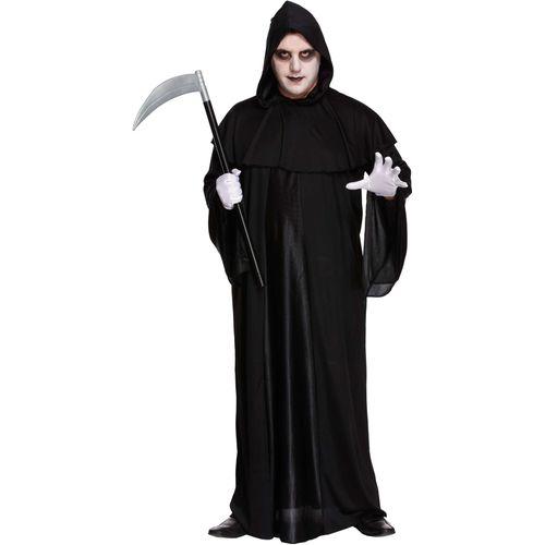 Death Grim Reaper Fancy Dress Costume Halloween Mens