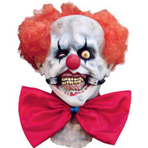 Smiley  Scary Clown Overhead & Chest Latex Mask Halloween Fancy Dress Accessory