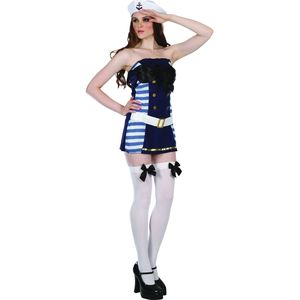 Flirty Sailor Girl Costume Size 10-12