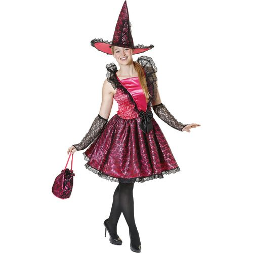 Witch Hat Pink Fancy Dress Costume Halloween Costume