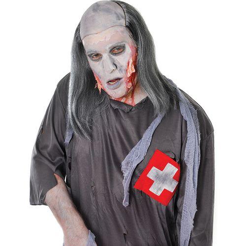 Zombie Grave Robber Halloween Grey Wig Fancy Dress Accessory