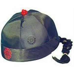 Chinese Hat With Plaited Pony Tail (Black)