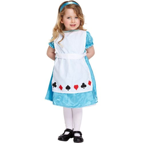 Childs Alice In Wonderland Style Fancy Dress Costume Age 3