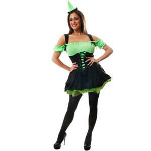 Black & Green Witch Costume Size 10-14