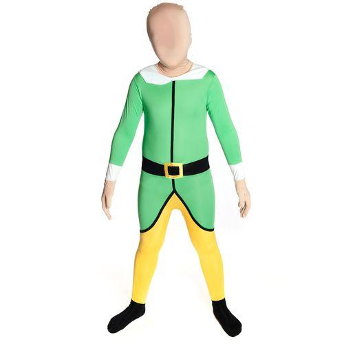 Elf Christmas Xmas Morphsuit Age 8 - 10 Years Morph Christmas Fancy Dress