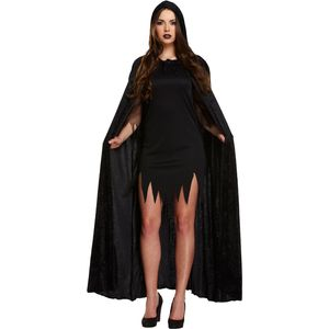 Velvet Hooded Devil Cape (Black)