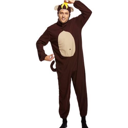 Monkey Onesie Fancy Dress Costume Adult All In One M-L