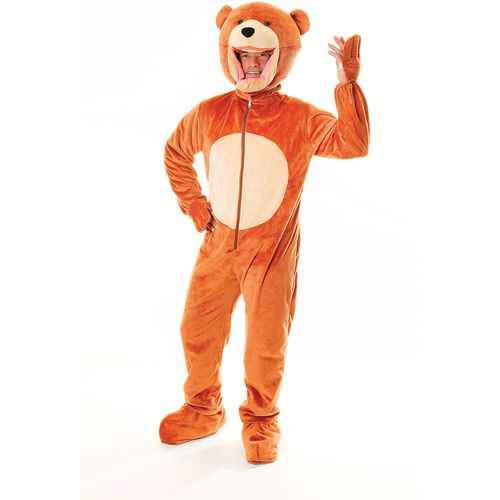 Teddy Bear Childrens Party Mascot Style Big Head Fancy Dress