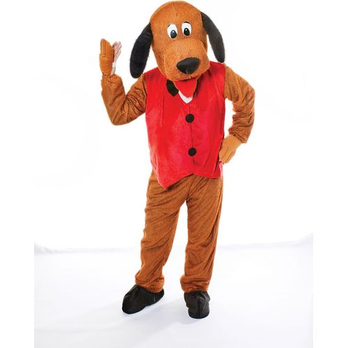 Dog Big Head Mascot Style Costume Fancy Dress Adults Kids Party