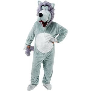 Wolf Big Head Mascot Costume