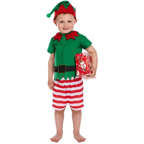 Santas Little Helper Elf Costume Toddler Age 3 Xmas Christmas Fancy Dress