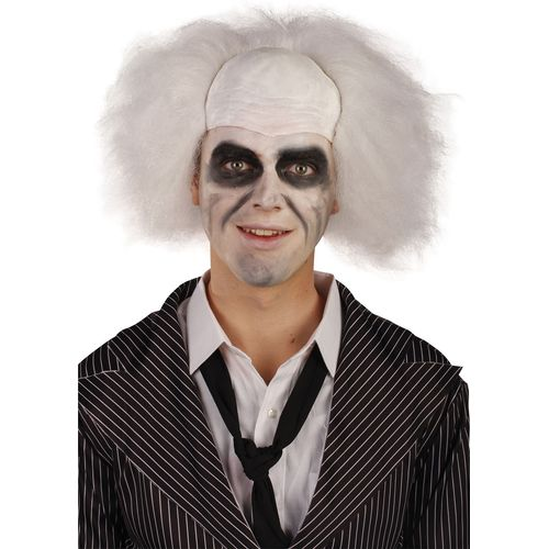 Beetlejuice Crazy Ghost Guy Wig Fancy Dress Accessory