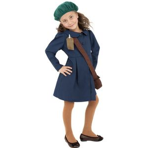 World War II Evacuee Girl Costume Age 4-6 Years