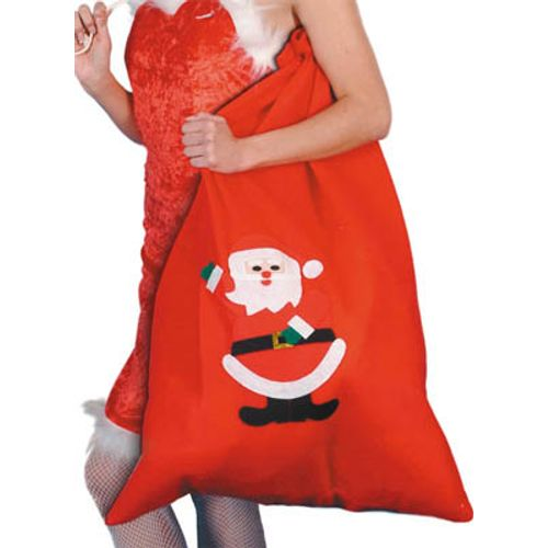 Santa Design Motif Xmas Christmas Red Santa Sack Fancy Dress