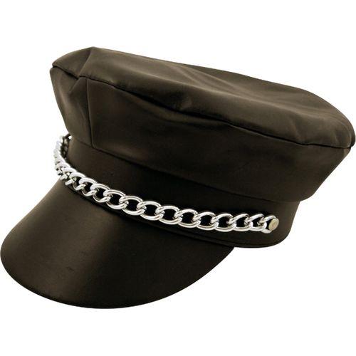 Fancy Dress Biker Village People YMCA 70s Black Punk Hat