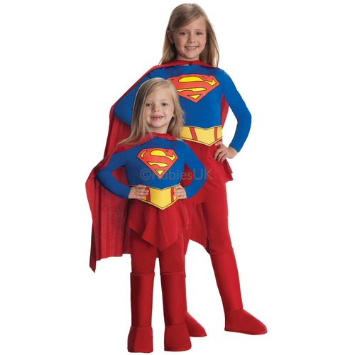 Super Girl Hero Traditional Book Week Comic Book Fancy Dress Costume Outfit Kids