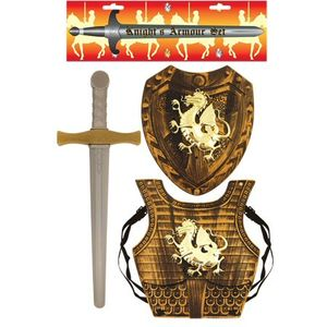 Childs Knight Toy Armour 3 Piece Set (Gold)