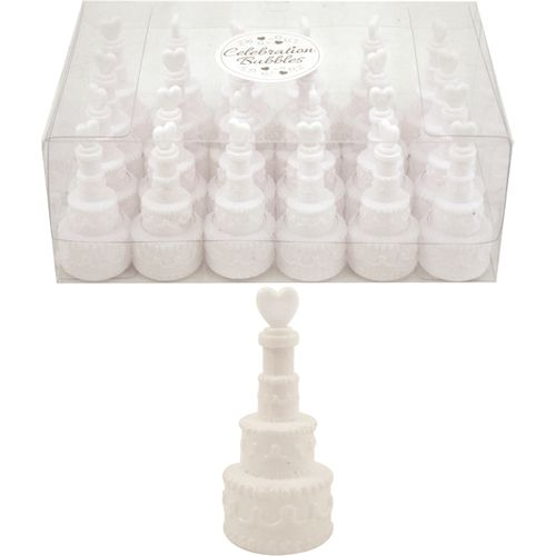 Wedding Cake Celebration Bubbles 24 Pack Table Decoration
