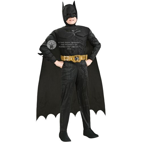 Childs Deluxe Batman Dark Knight Fancy Dess Costume Age 8-10 Years