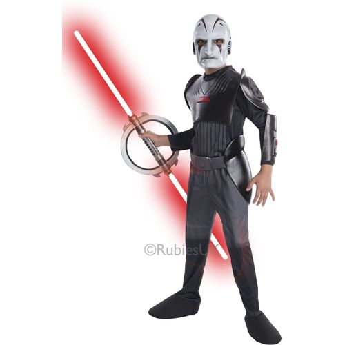 Childs Deluxe Inquisitor Star Wars Costume Kids Costume Outfit Age 8-10 Years