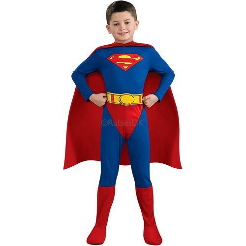 Superman Super Hero Fancy Dress Comic Book Week Dress Up Outfit