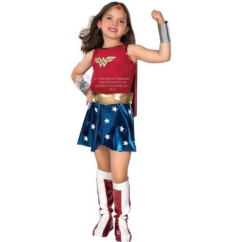 Wonder Woman Super Hero Comic Book Hero Costume Dress Up Fancy Dress