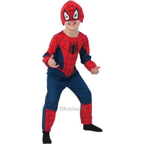 Deluxe Spiderman Costume 7 - 8 Years Outfit Marvel Comic Book