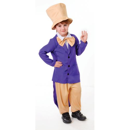 Chocolate Factory Boss Worker Willy Wonka Fancy Dress Book Week Kids