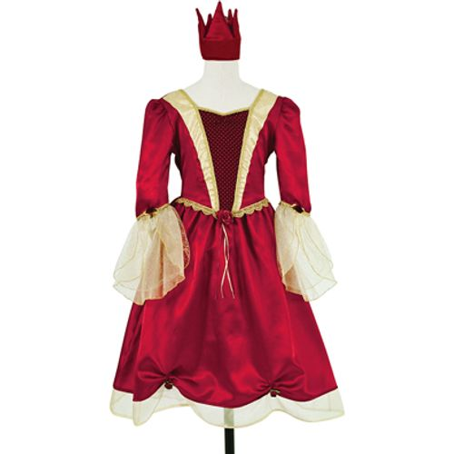 Burgundy Red Medieval Princess Dress Fancy Dress Outfit Costume