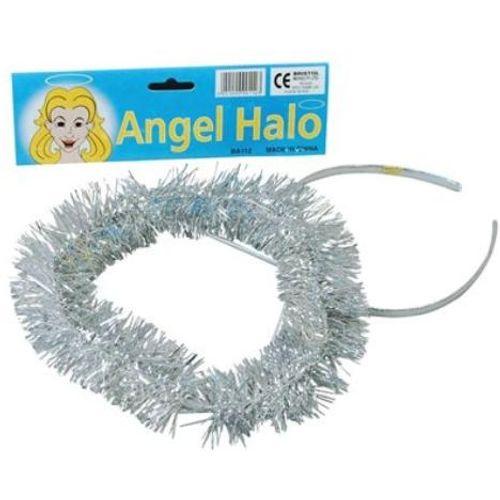 Silver Tinsel Halo Fancy Dress Accessory