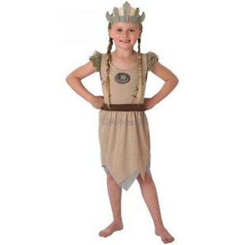 Childs Viking Girl Fancy Dress Costume Age 3-4 Years