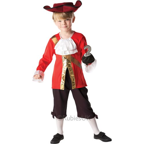 Captain Hook Jake & The Neverland Pirates Medium Book Week Fancy Dress Costume Outfit