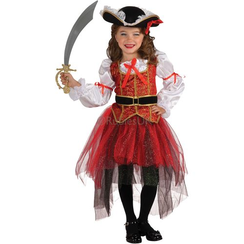 Princess Of Seas Costume Medium Fancy Dress Outfit Pirate Party Deluxe