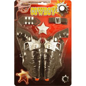 Twin Gun Cowboy Accessory Set