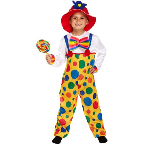 Childs Clown Fancy Dress Costume Age 10-12 Years