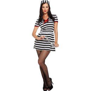 Ladies Convict Prisoner Costume Size 12-14