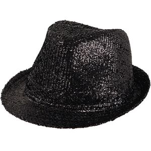 Tinsel Gangster Trilby Hat (Black)