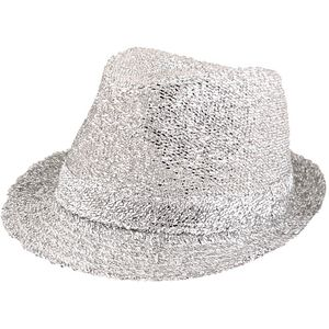 Tinsel Gangster Trilby Hat (Silver)